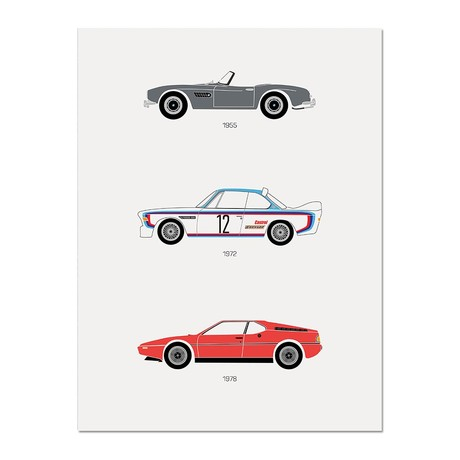 """Truly Ultimate Driving // BMW Poster (12""""L x 16""""W x 0.5""""H)"""