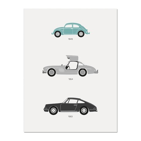 """From the Alps to the Autobahn // German Poster (12""""L x 16""""W x 0.5""""H)"""