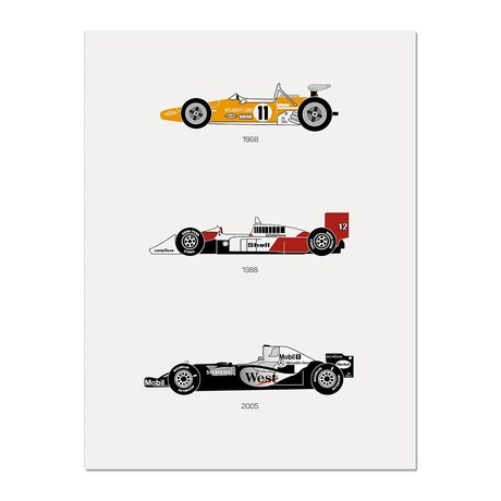 """Yield the Track // McLaren Poster (12""""L x 16""""W x 0.5""""H)"""
