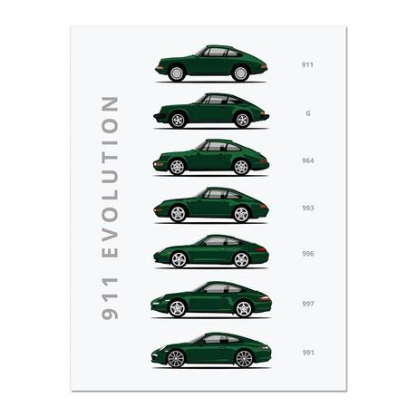 """911 // Car Poster (12""""L x 16""""W x 0.5""""H)"""