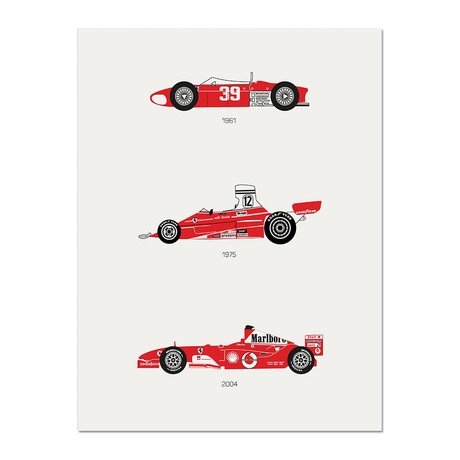 """There is Only One Formula // Ferrari Poster (12""""L x 16""""W x 0.5""""H)"""
