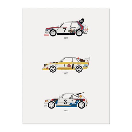 """A Tribute to Rally B // Group B Poster (12""""L x 16""""W x 0.5""""H)"""