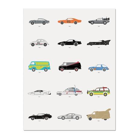"""Film Classics // Movie Car Poster (12""""L x 16""""W x 0.5""""H)"""
