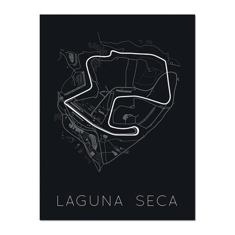 """Racing Forever Forward // Laguna Seca Poster (12""""L x 16""""W x 0.5""""H)"""