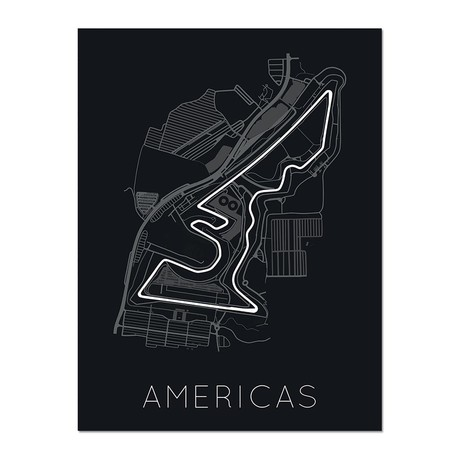 """Circuit of the Americas Poster (12""""L x 16""""W x 0.5""""H)"""