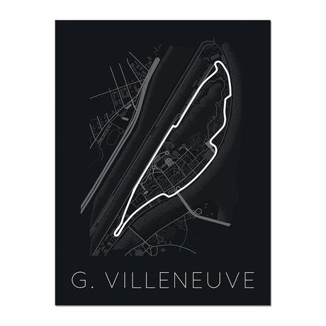 """Mur du Québec // Circuit Gilles Villeneuve Poster (12""""L x 16""""W x 0.5""""H)"""