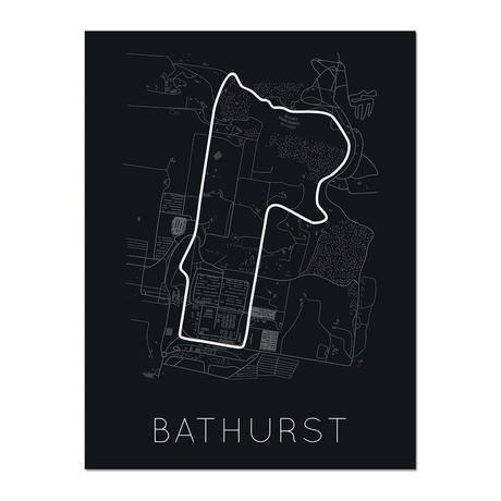 "Mount Panorama Circuit // Bathurst Poster (12""L x 16""W x 0.5""H)"