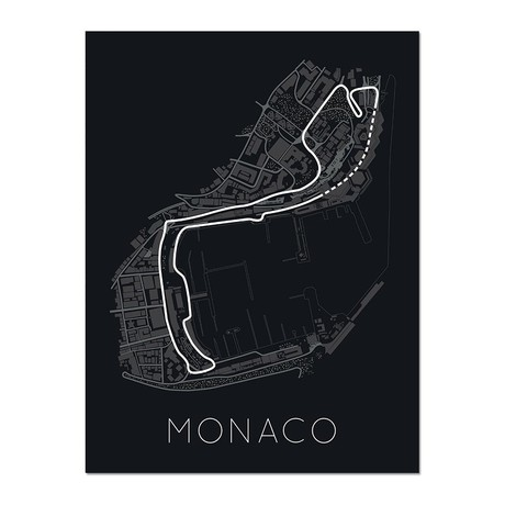 """The Stage of Real Sport // Circuit De Monaco Poster (12""""L x 16""""W x 0.5""""H)"""