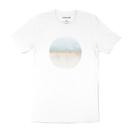 Beach Circle Graphic T-Shirt // White (S)