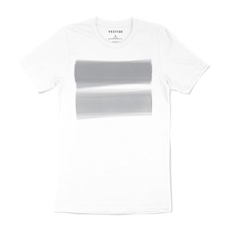 Transparent Light Graphic T-Shirt // White (S)