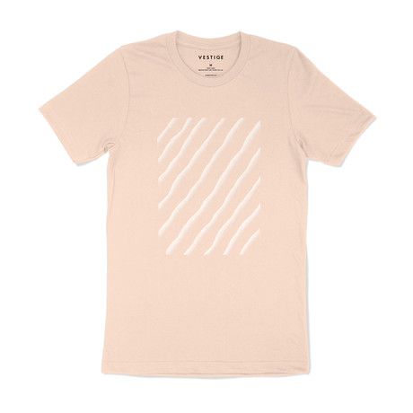 Sand Ripple Graphic T-Shirt // Clay (S)