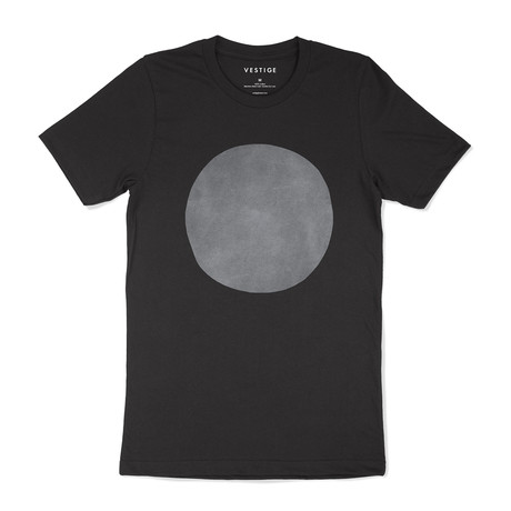 Suede Circle Graphic T-Shirt // Charcoal (S)