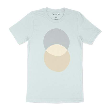 Double Offset Graphic T-Shirt // Pale Blue (S)