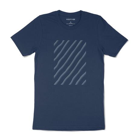 Sand Ripple Graphic T-Shirt // Blue (S)