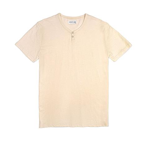 Notch Short Sleeve Henley // Clay (S)