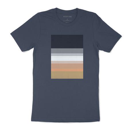 Color Spectrum Graphic T-Shirt // Blue (S)