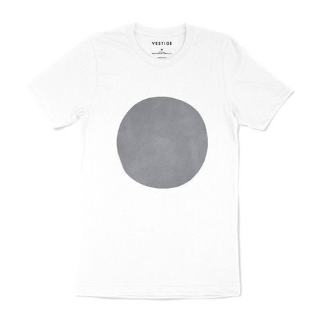 Suede Circle Graphic T-Shirt // White (S)