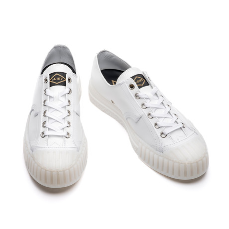 Ardo Low Lace-Up Leather Sneakers // White (Euro: 39)