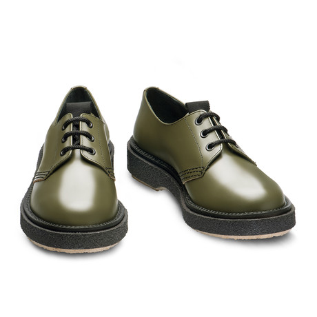 Lex Lace-Up Derby // Military Green (Euro: 39)