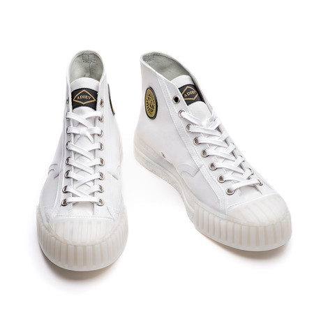 Whitney High Canvas Sneakers // White (Euro: 39)