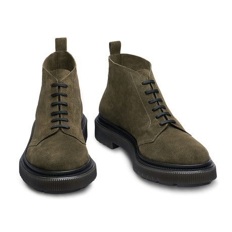 Barclay Lace-Up Low Boots // Green (Euro: 39)