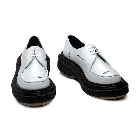 Jasper Letters Leather Derby // White + Black Letters (Euro: 39)