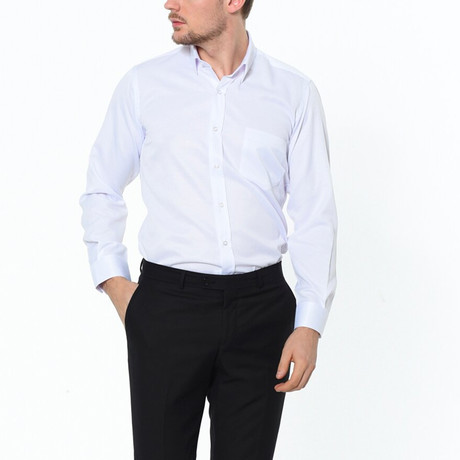 Francesco Button-Up Shirt // White (Small)