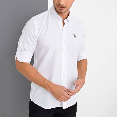 Louis Button-Down Shirt // White (Small)