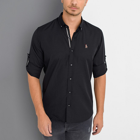 Louis Button-Down Shirt // Black (Small)