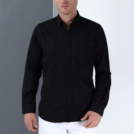 Paul Button-Up Shirt // Black (Small)