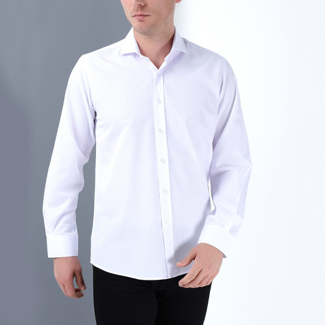 Jeffree Button-Up Shirt // White (Small)