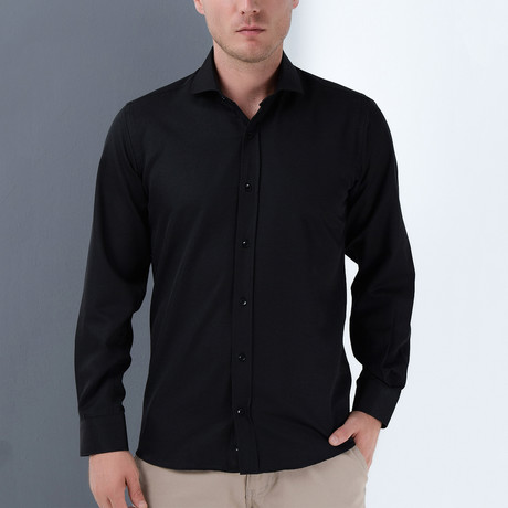 Lorenzo Button-Up Shirt // Black (Small)