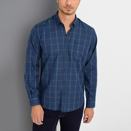 Quincy Shirt // Dark Blue (Small)