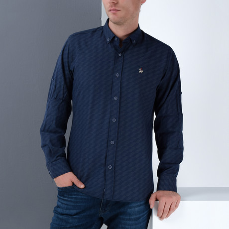 Rick Button-Up Shirt // Dark Blue (Small)