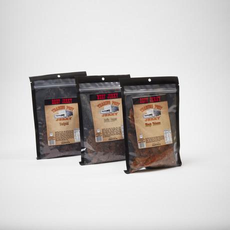 Brisket Beef Jerky 3 Pack // Habanero, Garlic Pepper, Teriyaki