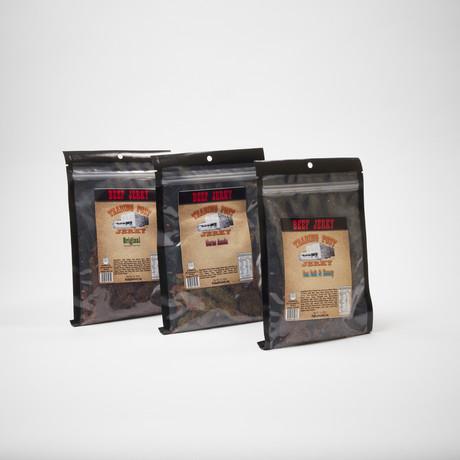 Brisket Beef Jerky 3 Pack // Sea Salt Honey & Pepper, Carne Asada, Original