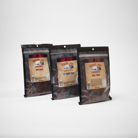 Brisket Beef Jerky 3 Pack // Spicy Sweet, Ole Cracked Pepper, Smokey Barbeque