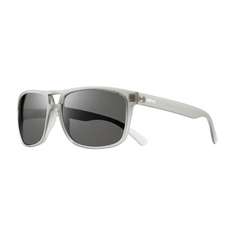 Holsby Polarized Sunglasses // Matte Gray Crystal Frame + Graphite Lens