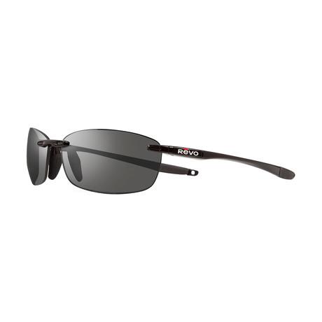 Descend XL Polarized Sunglasses (Black + Blue)