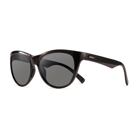 Barclay Polarized Sunglasses // Black Frame + Graphite Lens