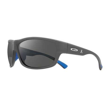 Caper Polarized Sunglasses (Matte Light Gray Frame + Graphite Lens)