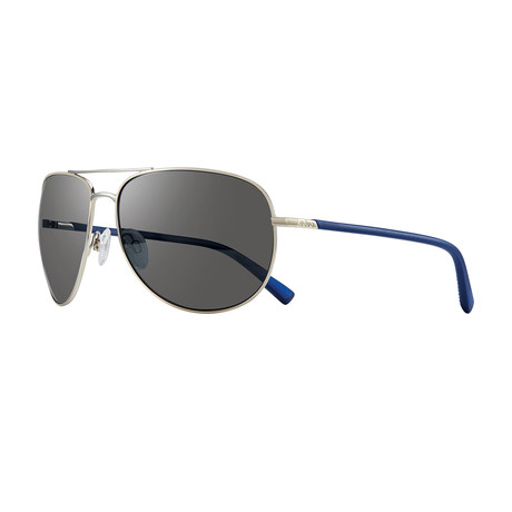 Tarquin Polarized Sunglasses (Chrome Frame + Graphite Lens)