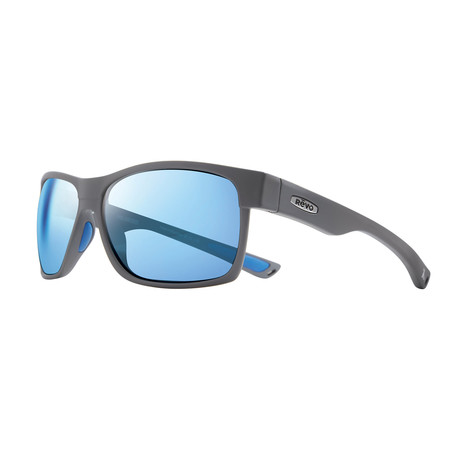 Espen Polarized Sunglasses (Matte Graphite Frame + Blue Lens)
