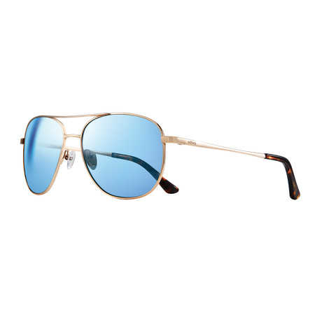 Maxie Polarized Sunglasses (Gold Frame + Blue Lens)
