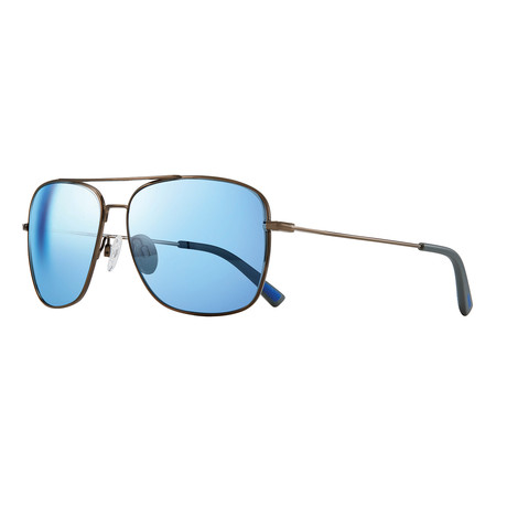 Harbor Polarized Sunglasses (Gunmetal Frame + Blue Lens)
