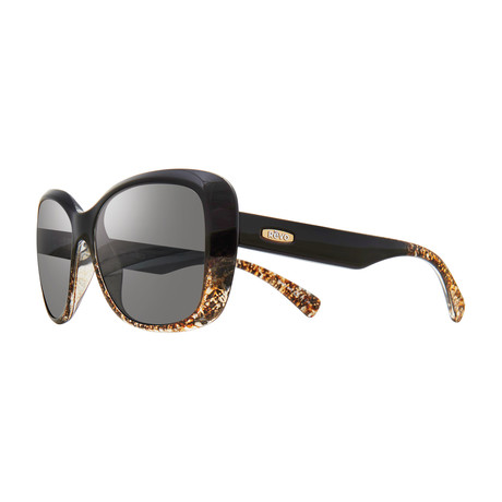 Devin Polarized Sunglasses // Black Amber + Graphite