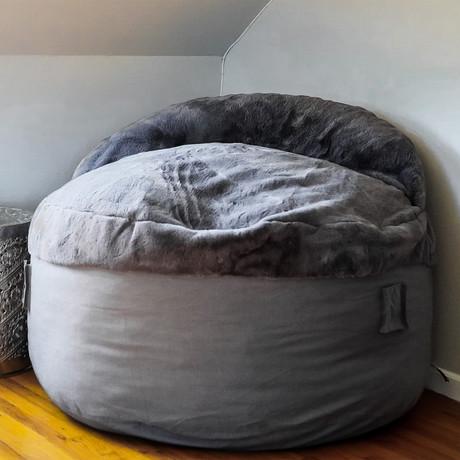 Convertible Bean Bag Chair // Nest // Charcoal (Full)