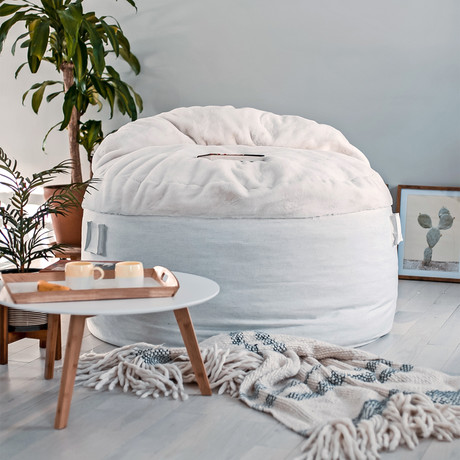 Convertible Bean Bag Chair // Nest // Cream (Full)