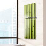 "Signature Series Glass Heater + Towel Rack // Bamboo (48""L x 16""W + 16"" Rack)"