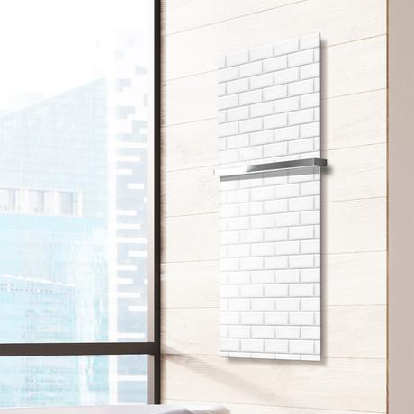 "Signature Series Glass Heater + Towel Rack // Metropolitan (48""L x 16""W + 16"" Rack)"